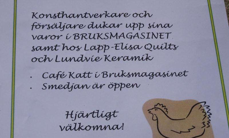 Gittas verkstad - Ostermarkt in Lennartsfors 2018