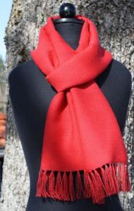Röd alpacka sjal