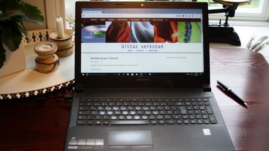 Du kan gärna beställaen produkt från Gittas verkstad per nätet