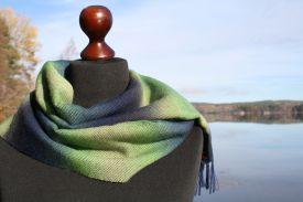 Norrsken-sjal-blå-grön-Gittas-verkstad
